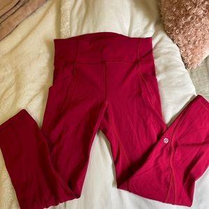 Pink Lululemon legging